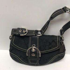 Coach Monogram Women Handbag Black